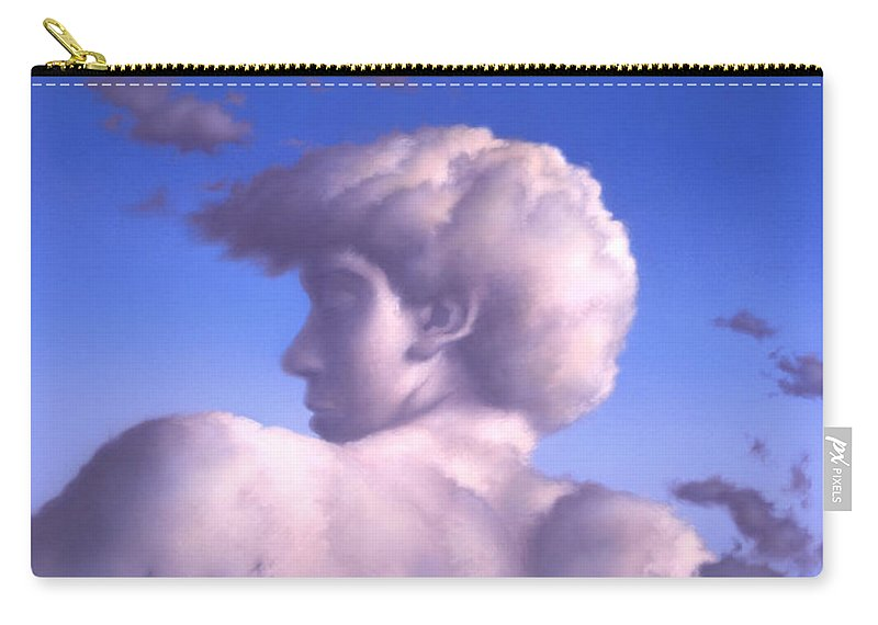 Clouds Carry-all Pouch featuring the painting Twilight by Jerry LoFaro