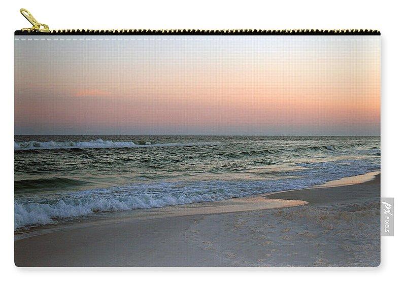 Water Carry-all Pouch featuring the photograph Twilight Ocean Beach by Karen Adams