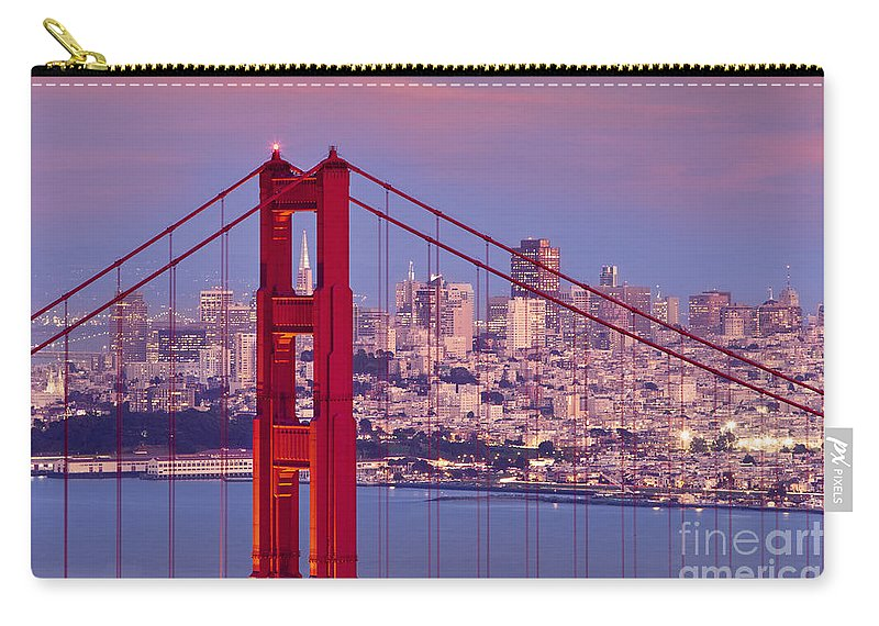 Golden Gate Carry-all Pouch featuring the photograph Twilight Over San Francisco by Brian Jannsen