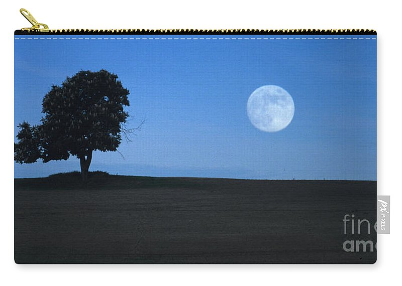 Full Moon Carry-all Pouch featuring the photograph Twilight Solitude by Sharon Elliott