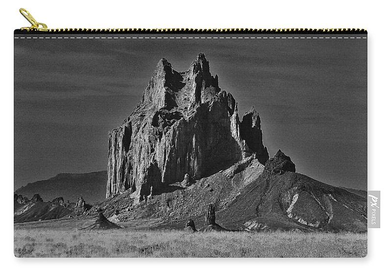 Shiprock Carry-all Pouch featuring the photograph Twilight Zone by Benjamin Yeager