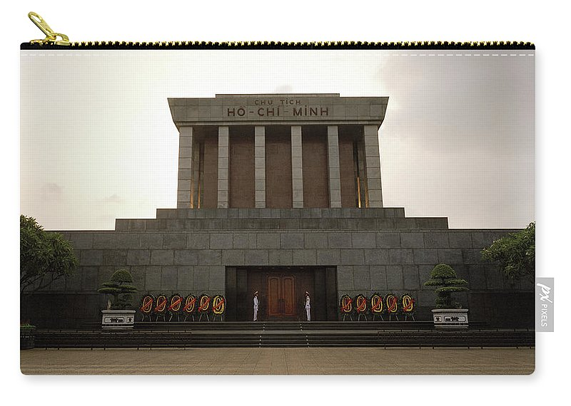 Asia Carry-all Pouch featuring the photograph Twilit Ho Chi Minh Mausoleum by Shaun Higson