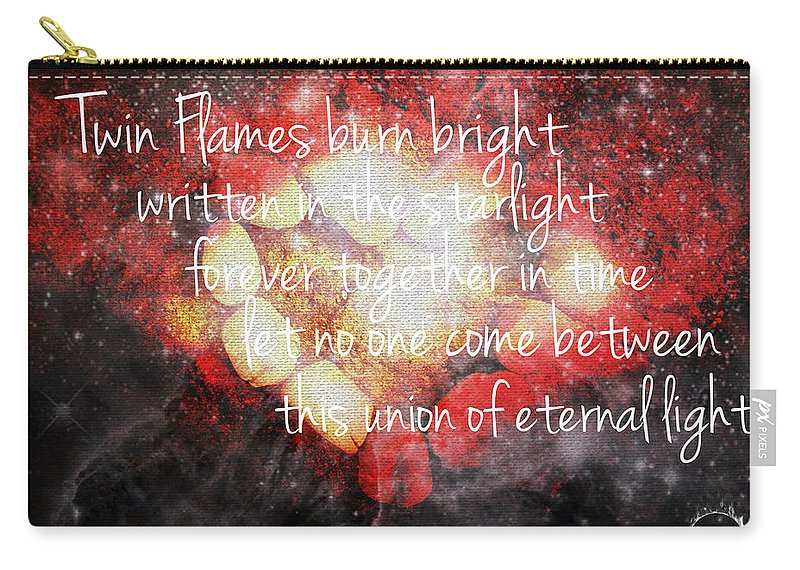 Twin Flames Carry-all Pouch featuring the digital art Twin Flames by Absinthe Art By Michelle LeAnn Scott