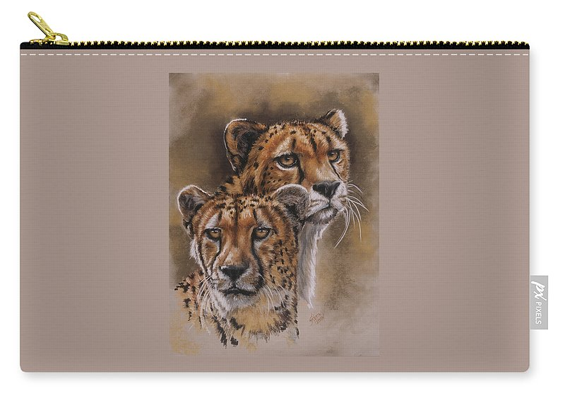 Cheetah Carry-all Pouch featuring the pastel Twins by Barbara Keith