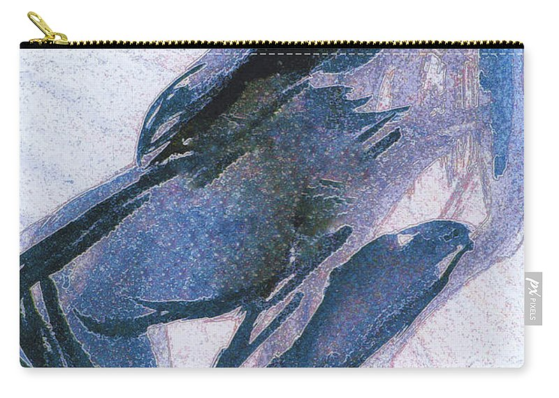 First Star Art Carry-all Pouch featuring the painting Twist by First Star Art
