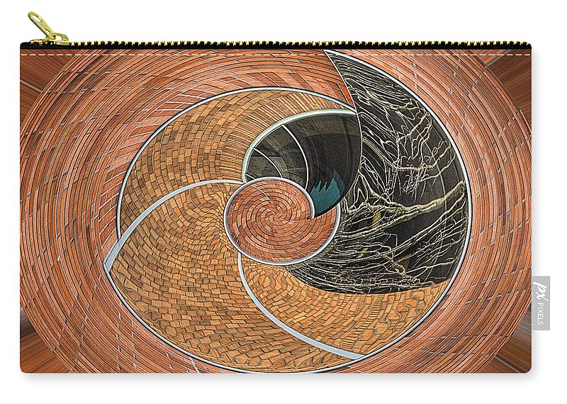 Urban Perspectives Carry-all Pouch featuring the photograph Twisted Koin by Jean Noren