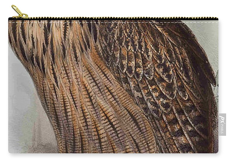 Owl Carry-all Pouch featuring the digital art Twit Twoo by Philip Ralley