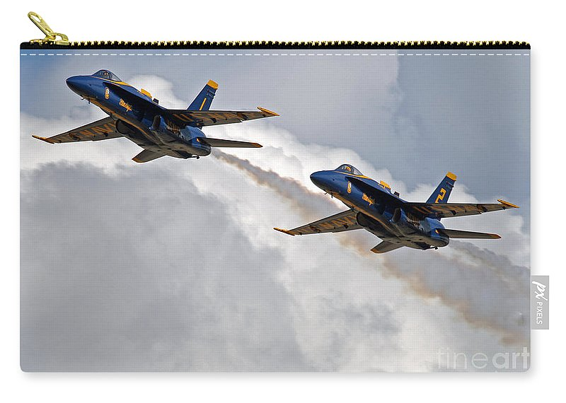 Blue Angels Carry-all Pouch featuring the photograph Two Angels by Bob Hislop