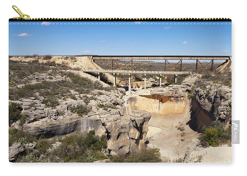 Bridges Carry-all Pouch featuring the photograph Two Bridges by Erika Weber