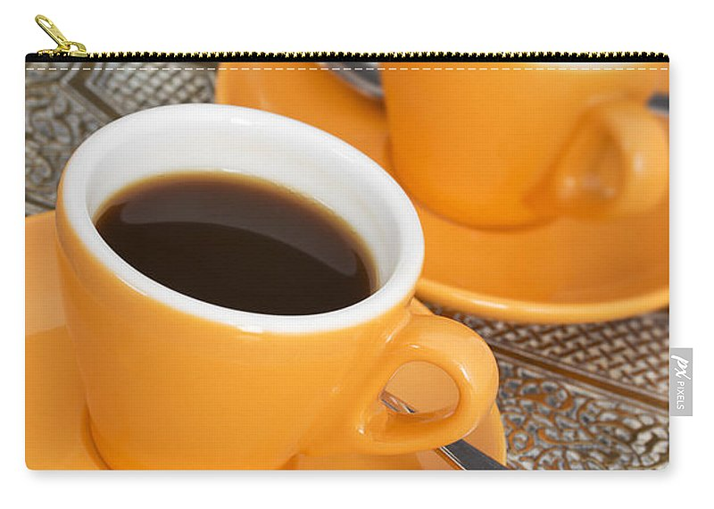 Coffee Carry-all Pouch featuring the photograph Two Cups Of Espresso by Chevy Fleet
