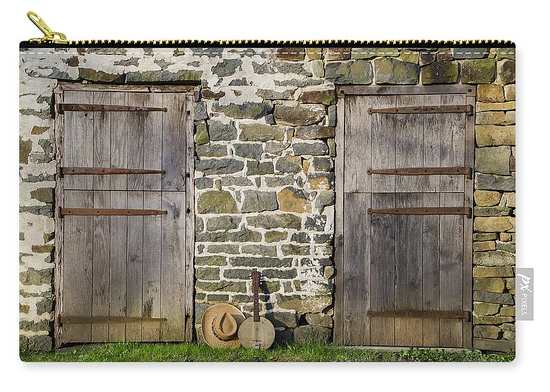 Two Carry-all Pouch featuring the photograph Two Doors On A Barn by Bill Cannon