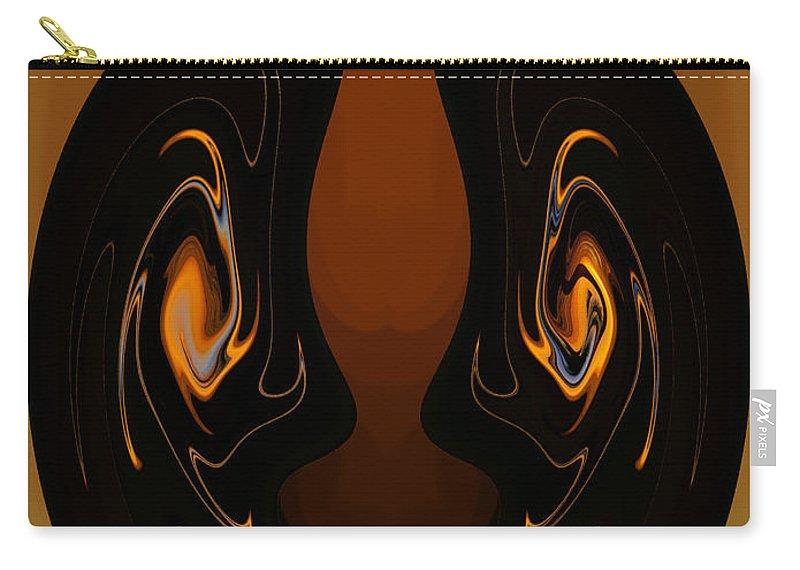 Digital Art Carry-all Pouch featuring the photograph Two Faces by Athala Carole Bruckner