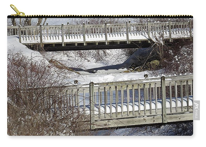 Snow Carry-all Pouch featuring the photograph Two Foot Bridges by MTBobbins Photography