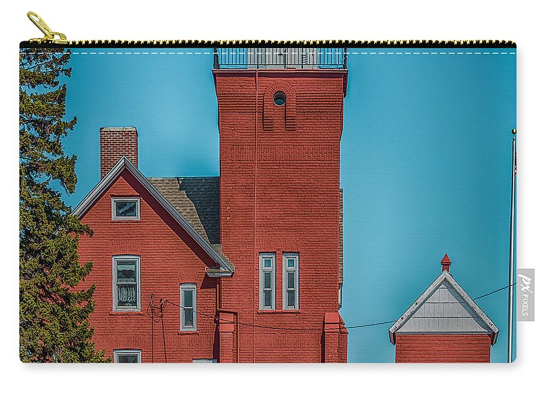 Blue Carry-all Pouch featuring the photograph Two Harbors Lighthouse by Paul Freidlund