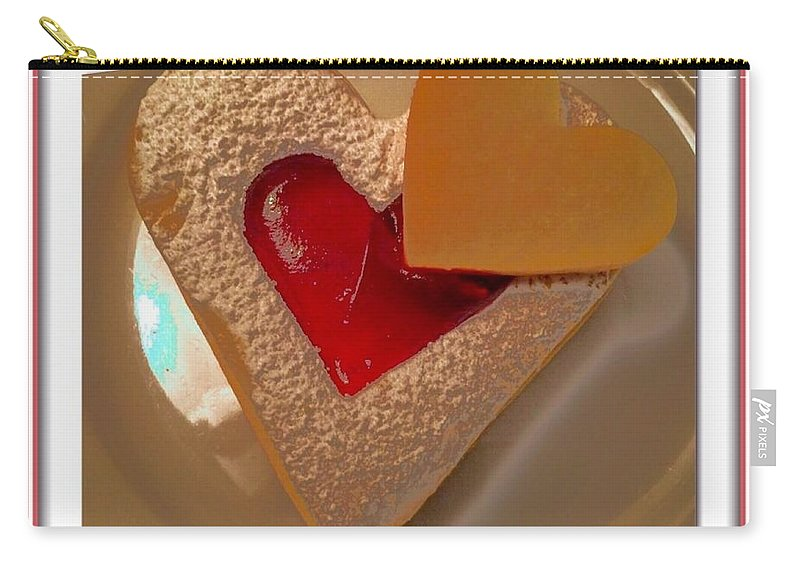 Two Hearts Carry-all Pouch featuring the photograph Two Hearts by Susan Garren