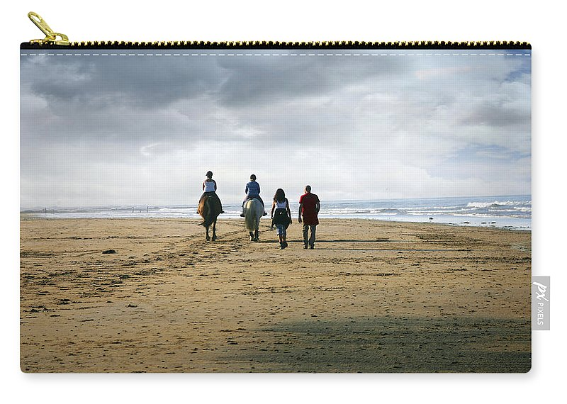 Uk Carry-all Pouch featuring the photograph Two Legs Four Legs by Christopher Rees