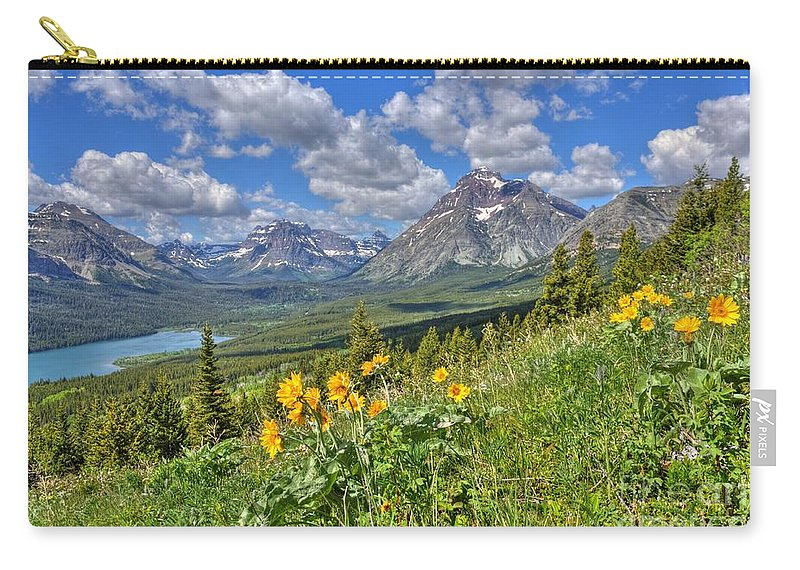 Two Medicine Valley Carry-all Pouch featuring the photograph Two Medicine Valley by James Anderson