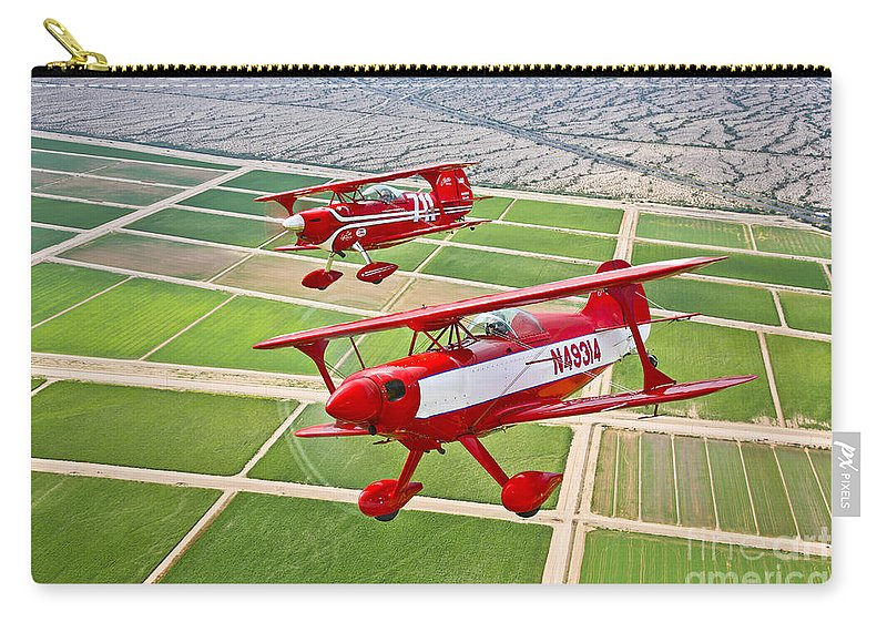 Horizontal Carry-all Pouch featuring the photograph Two Pitts Special S-2a Aerobatic by Scott Germain