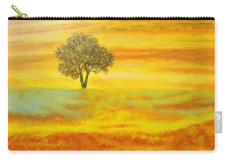 Augusta Stylianou Carry-all Pouch featuring the painting Two Sunsets In Limassol by Augusta Stylianou