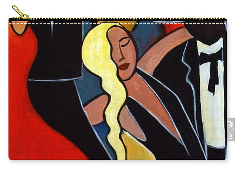Dancers Carry-all Pouch featuring the painting Two to Tango 2 by Valerie Vescovi
