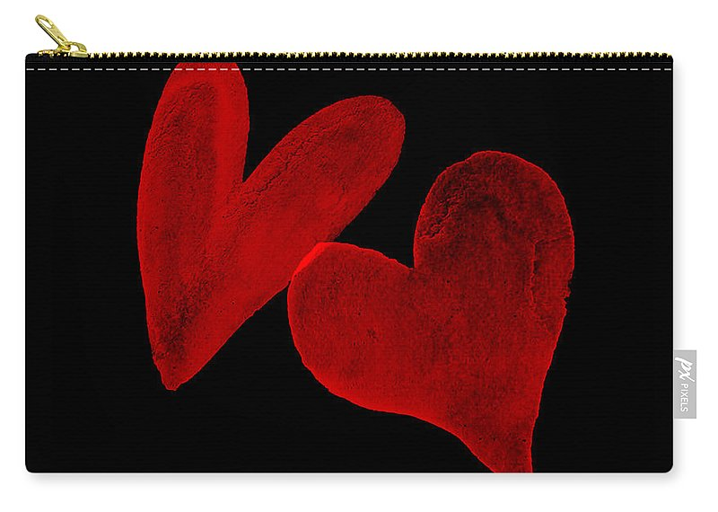Photoshop Carry-all Pouch featuring the digital art Two Wounded Hearts... by Tim Fillingim