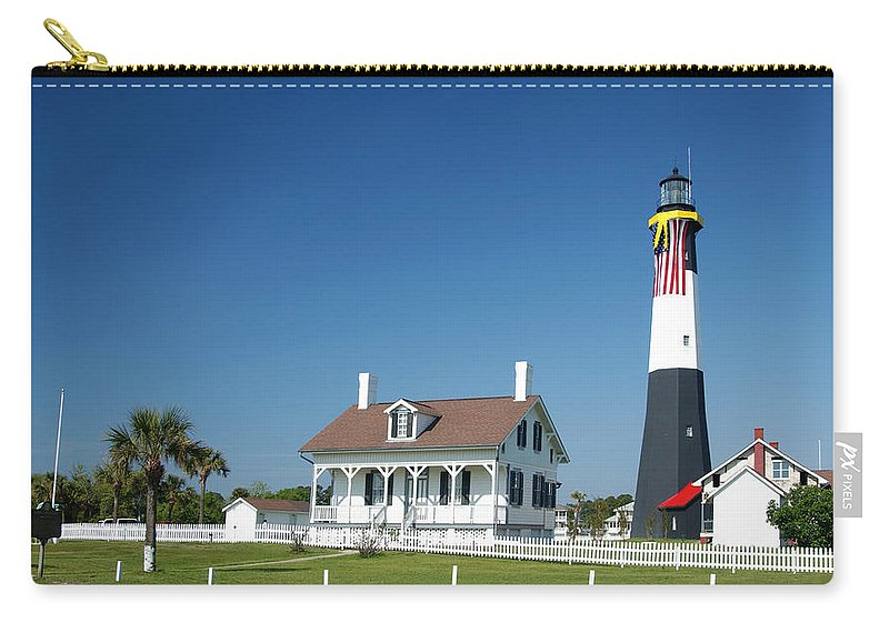 Tybee Island Lighthouse Carry-all Pouch featuring the photograph Tybee Island Lighthouse Georgia by Bob Pardue