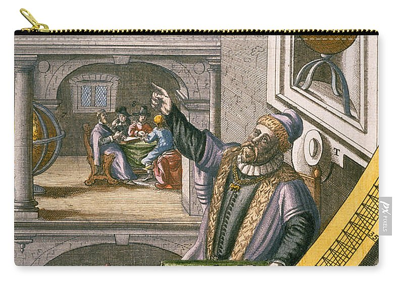 Tycho Carry-all Pouch featuring the drawing Tycho Brahe by Joan Blaeu