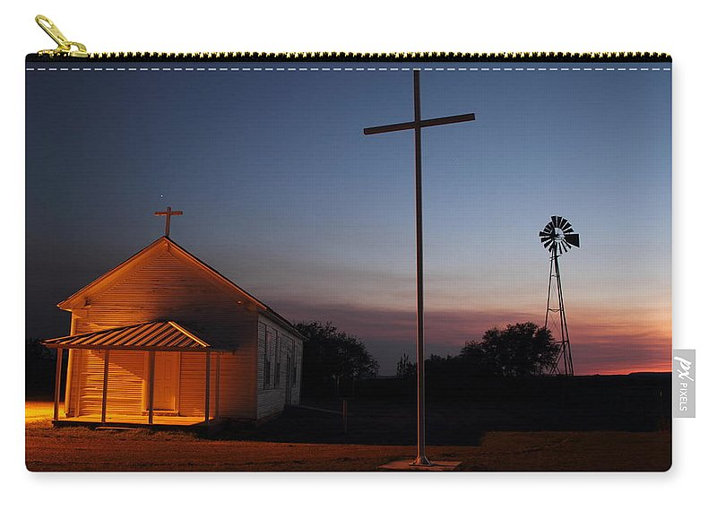 Texas Carry-all Pouch featuring the photograph Tye Church 2am-104799 by Andrew McInnes