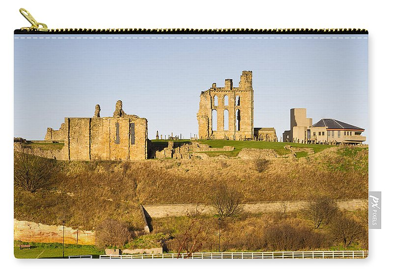 Ancient Carry-all Pouch featuring the photograph Tynemouth Priory And Castle by David Head