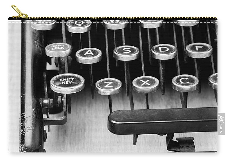 Typewriter Carry-all Pouch featuring the photograph Typewriter Triptych Part 1 by Edward Fielding