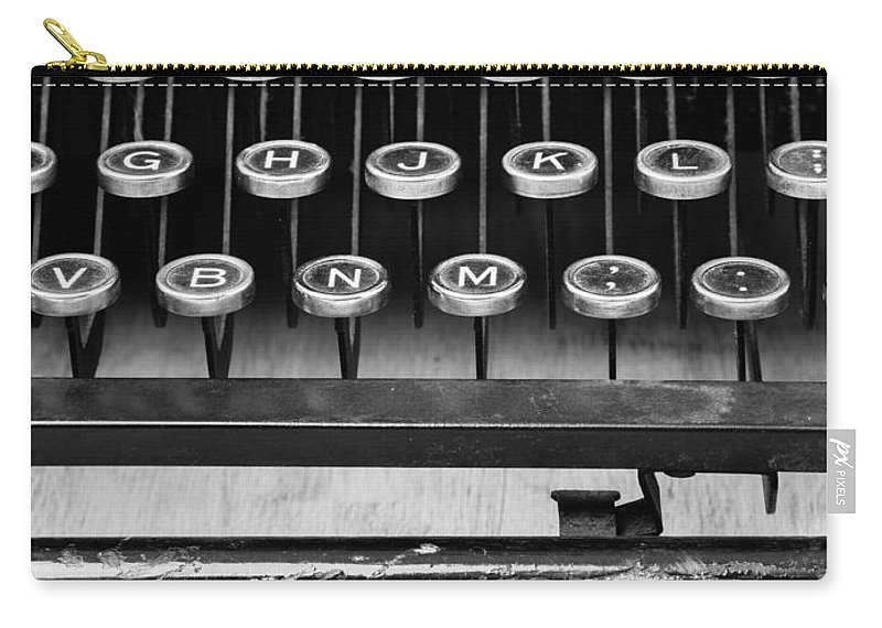 Typewriter Carry-all Pouch featuring the photograph Typewriter Triptych Part 2 by Edward Fielding
