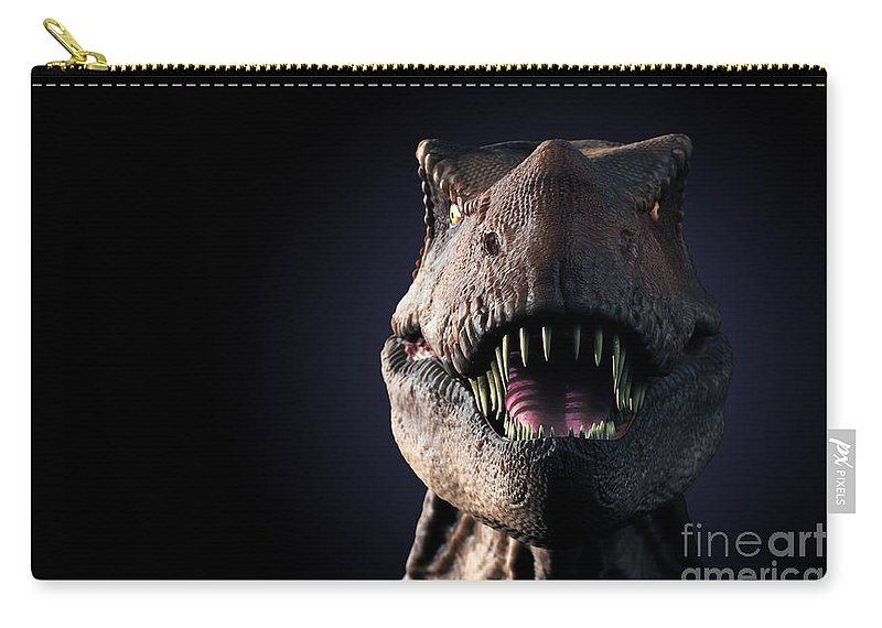 3d Visualisation Carry-all Pouch featuring the photograph Tyrannosaurus Rex by Science Picture Co