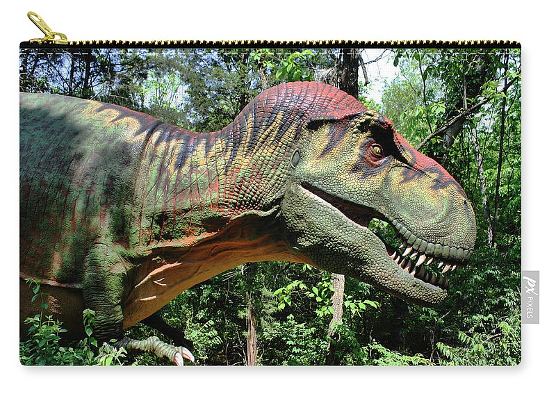 Tyrannosaurus Carry-all Pouch featuring the photograph Tyrannosaurus Rex T. Rex by Kristin Elmquist