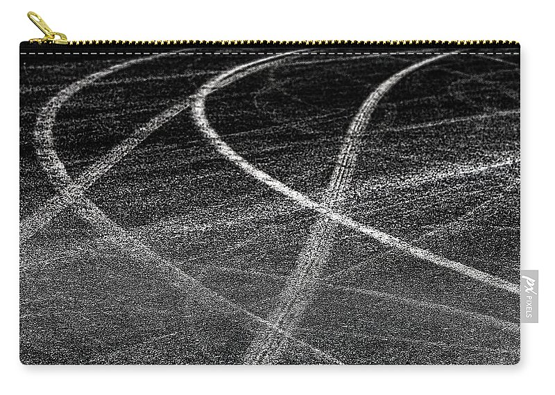 Tyre Carry-all Pouch featuring the photograph Tyre Tracks by Jose Bispo
