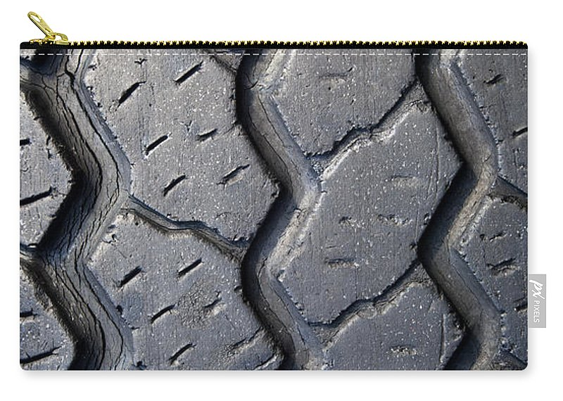Car Carry-all Pouch featuring the photograph Tyre Tread by Tim Hester