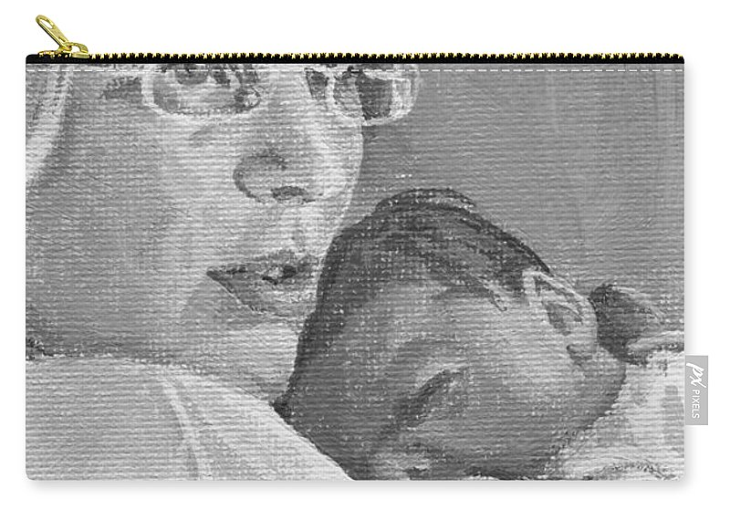 Mother Carry-all Pouch featuring the painting Tzurit And Mika by Tamir Barkan