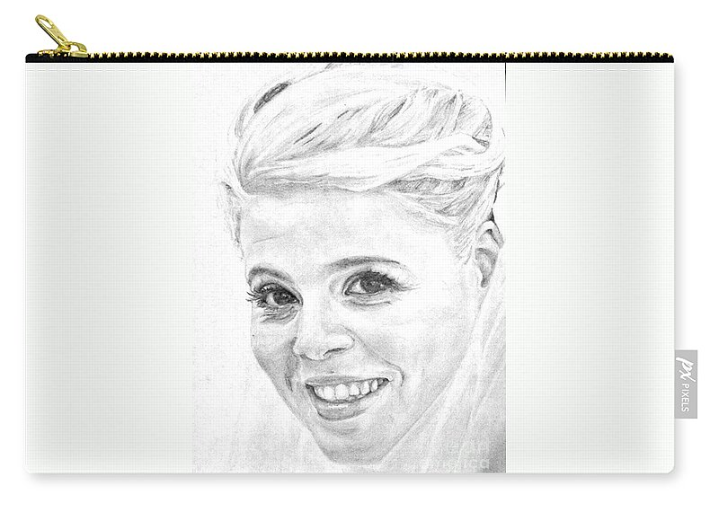 Wedding Carry-all Pouch featuring the drawing Tzurit Wedding by Tamir Barkan