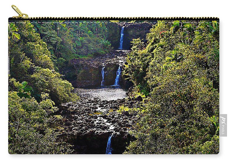 Umauma Falls Carry-all Pouch featuring the photograph Umauma Falls II by Patricia Griffin Brett
