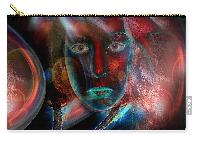 Portrait Carry-all Pouch featuring the digital art Umbilical Connection to a Dream by Otto Rapp