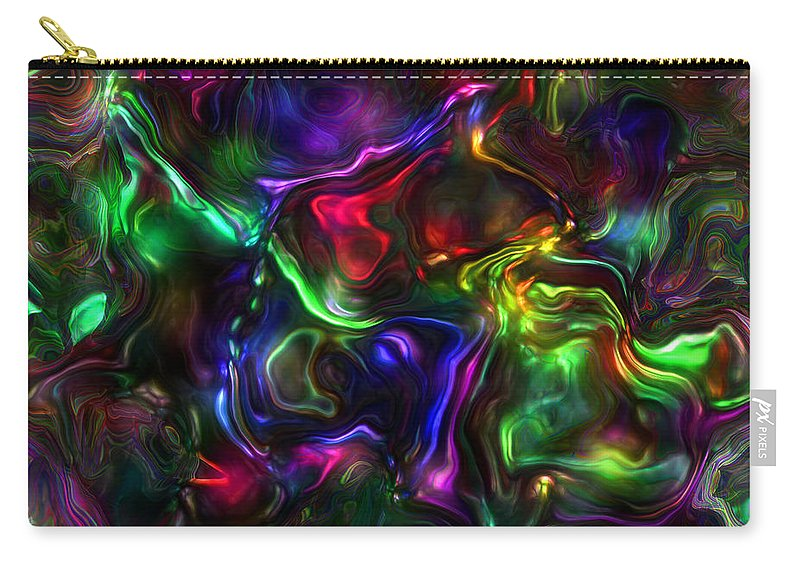 Abstract Carry-all Pouch featuring the painting Umbilical Souls by RC DeWinter