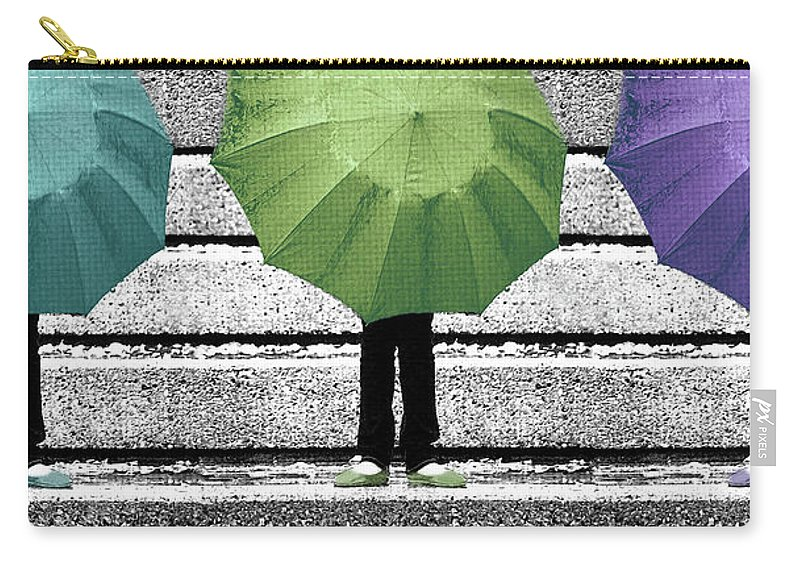 Umbrella Carry-all Pouch featuring the photograph Umbrella Trio by Lisa Knechtel