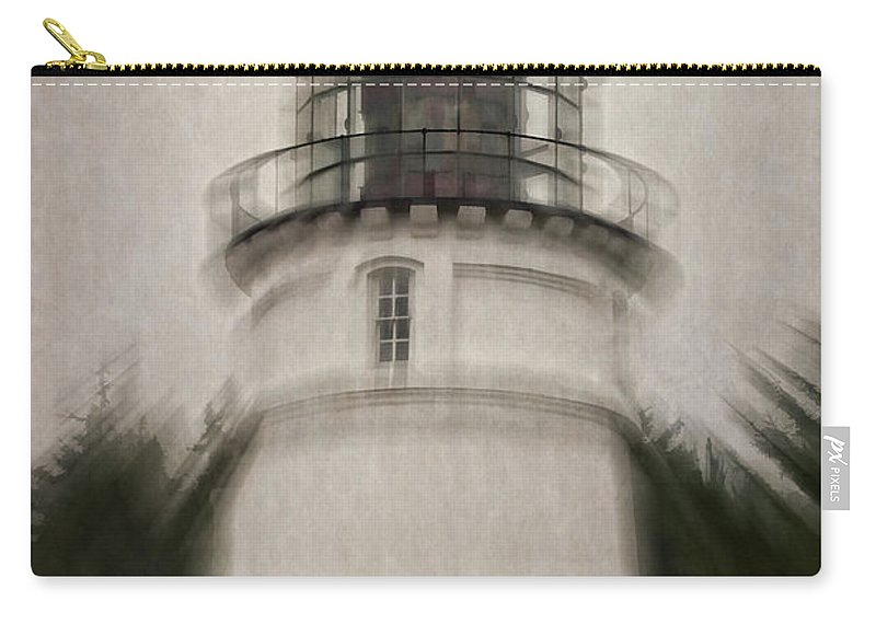 Umpqua Lighthouse Carry-all Pouch featuring the photograph Umpqua Light Fantasy by Mick Anderson