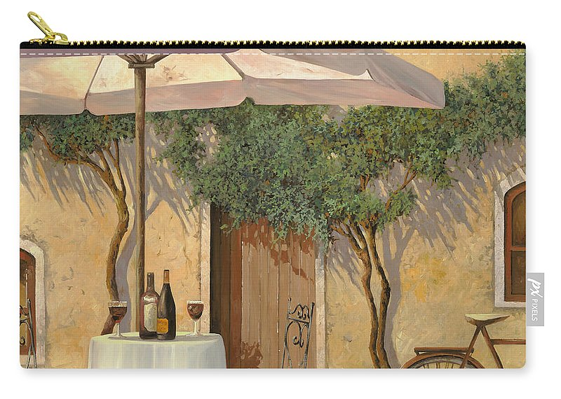 Courtyard Carry-all Pouch featuring the painting Un Ombra In Cortile by Guido Borelli