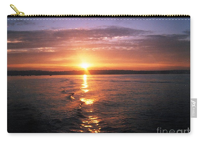 Unbelievable Sunrise Carry-all Pouch featuring the photograph Unbelievable Sunrise by John Telfer