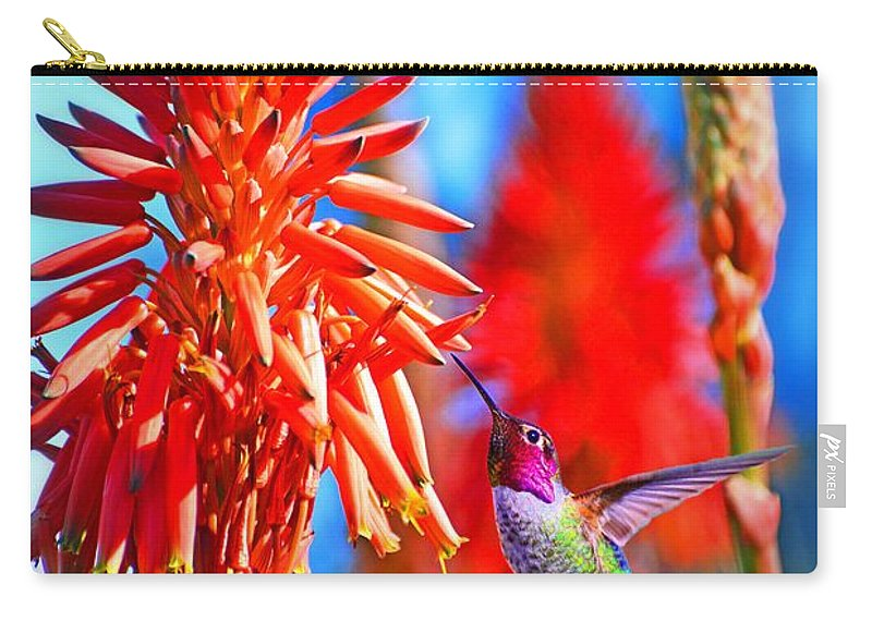 Hummer Carry-all Pouch featuring the photograph Uncaged by Lynn Bauer