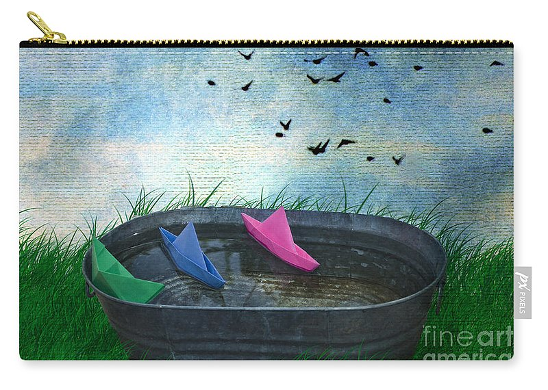Paper Boats Carry-all Pouch featuring the photograph Uncharted Waters by Juli Scalzi