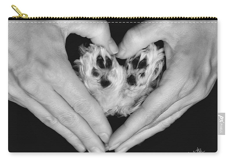 Puppy Carry-all Pouch featuring the photograph Unconditional Love by Andrea Auletta