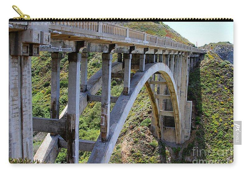 Big Sur Carry-all Pouch featuring the photograph Under Bixby Bridge By Diana Sainz by Diana Raquel Sainz