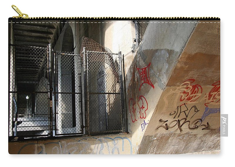 Key Carry-all Pouch featuring the photograph Under Key Bridge by Cora Wandel
