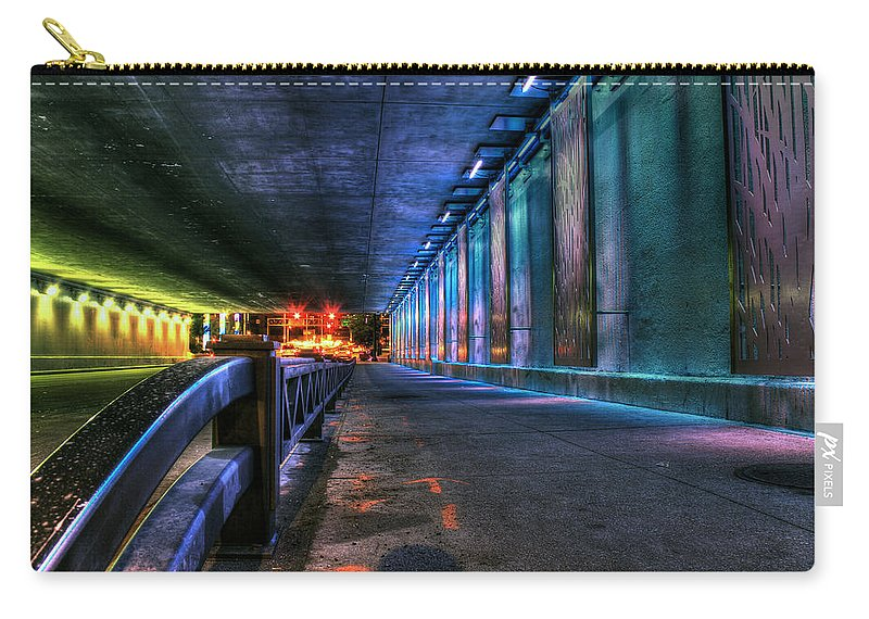 Canon Carry-all Pouch featuring the photograph Under Lasalle St. Station by Steven K Sembach